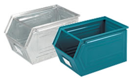 Semi-open front storage containers